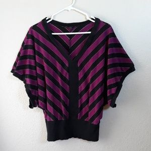 Vintage 80s Express Dolman Sleeves Knit Top S